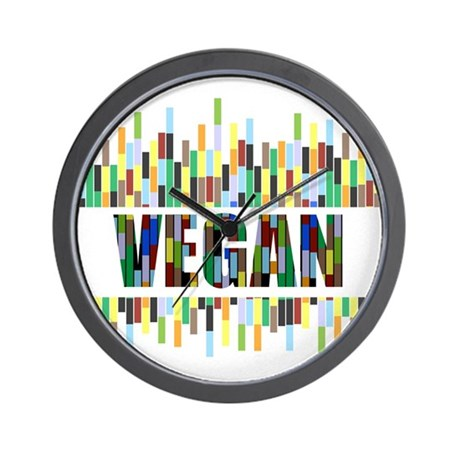Colorful Vegan Wall Clock