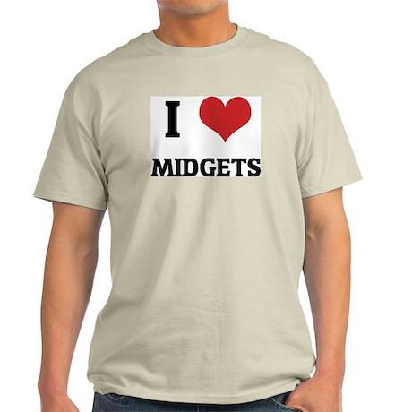 I Love Midgets Ash Grey T-Shirt