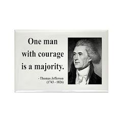 Thomas Jefferson 5 Rectangle Magnet (100 pack)