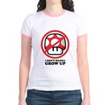 I Don't Wanna Grow Up Jr. Ringer T-Shirt