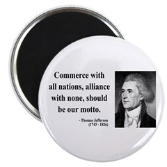 "Thomas Jefferson 10 2.25"" Magnet (100 pack)"