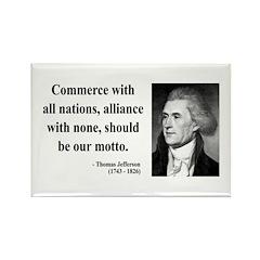 Thomas Jefferson 10 Rectangle Magnet (100 pack)