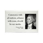 Thomas Jefferson 10 Rectangle Magnet (10 pack)