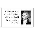 Thomas Jefferson 10 Rectangle Sticker
