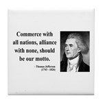 Thomas Jefferson 10 Tile Coaster