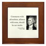 Thomas Jefferson 10 Framed Tile