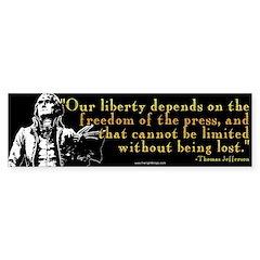 Thomas Jefferson Free Press Q Bumper Bumper Sticker