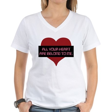 All Your Heart Women's V-Neck T-Shirt