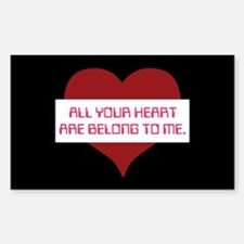 All Your Heart Rectangle Decal