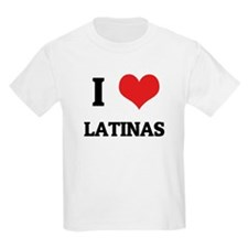 I Love Latinas Kids T-Shirt