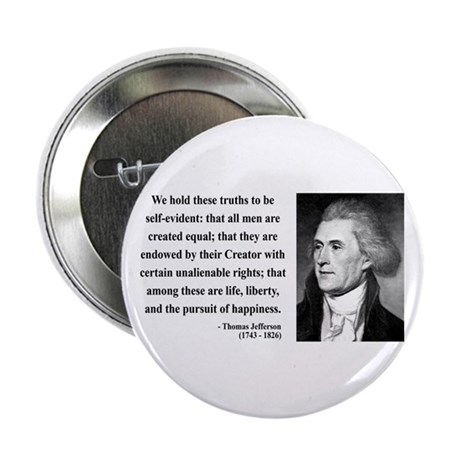 "Thomas Jefferson 14 2.25"" Button (100 pack)"