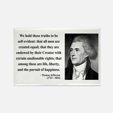 Thomas Jefferson 14 Rectangle Magnet