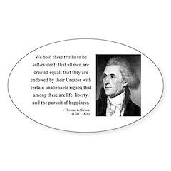 Thomas Jefferson 14 Oval Decal