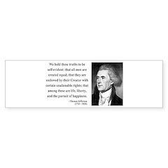 Thomas Jefferson 14 Bumper Bumper Sticker