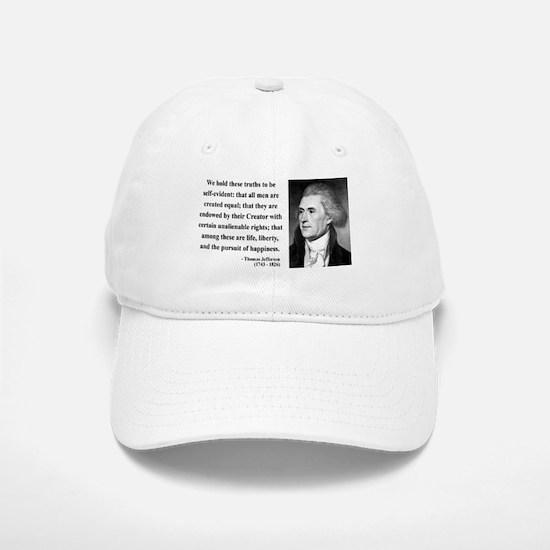 Thomas Jefferson 14 Baseball Baseball Cap
