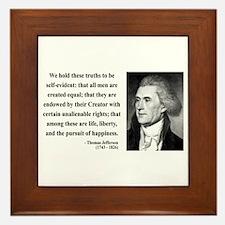 Thomas Jefferson 14 Framed Tile
