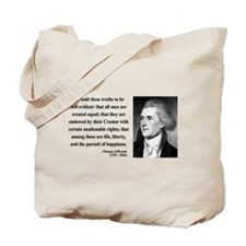 Thomas Jefferson 14 Tote Bag