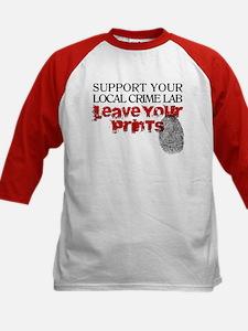 Crime Lab - Leave Your Prints Kids Baseball Jersey