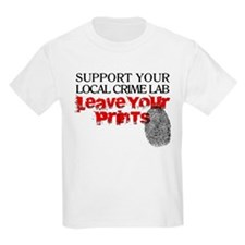 Crime Lab - Leave Your Prints T-Shirt