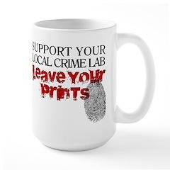 Crime Lab - Leave Your Prints Large Mug