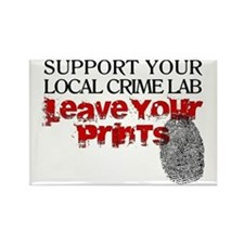 Crime Lab - Leave Your Prints Rectangle Magnet
