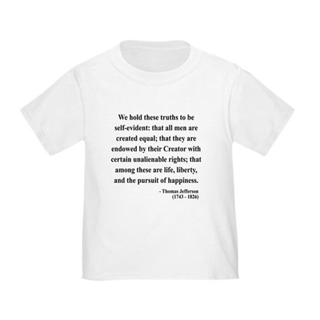 Thomas Jefferson 14 Toddler T-Shirt