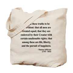 Thomas Jefferson 14 Tote Bag