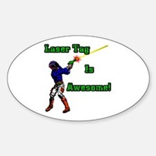 Laser Tag Oval Decal