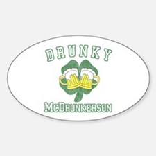 Drunky McDrunkerson Oval Decal