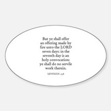 LEVITICUS 23:8 Oval Decal