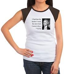 Thomas Jefferson 21 Women's Cap Sleeve T-Shirt