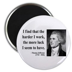 "Thomas Jefferson 21 2.25"" Magnet (10 pack)"