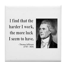 Thomas Jefferson 21 Tile Coaster