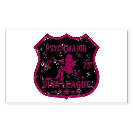 Psych Major Diva League Rectangle Sticker
