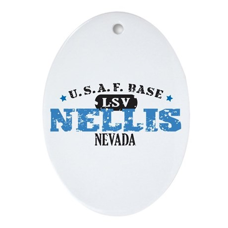Nellis Air Force Base Ornament (Oval)