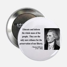 "Thomas Jefferson 22 2.25"" Button (10 pack)"