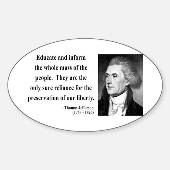Thomas Jefferson 22 Oval Decal