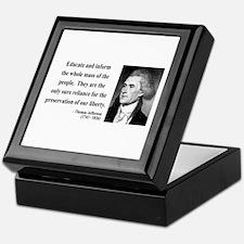 Thomas Jefferson 22 Keepsake Box