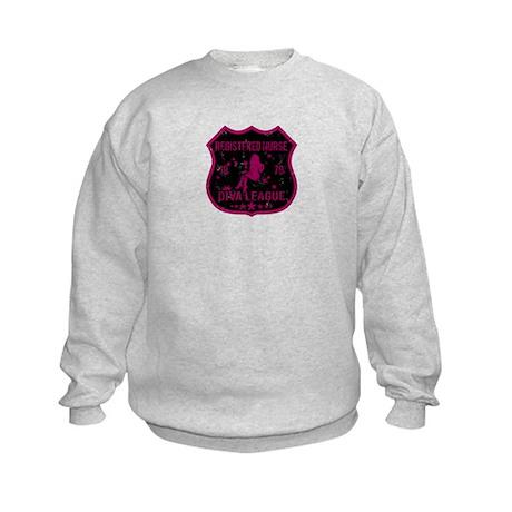 Registered Nurse Diva League Kids Sweatshirt