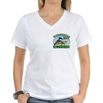 Bloggerhead (2-sided) Women's V-Neck T-Shirt