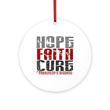 HOPE FAITH CURE Parkinson's Disease Ornament (Roun