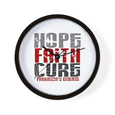 HOPE FAITH CURE Parkinson's Disease Wall Clock