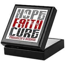 HOPE FAITH CURE Parkinson's Disease Keepsake Box