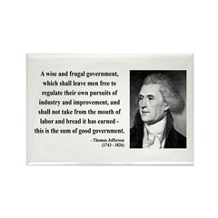 Thomas Jefferson 23 Rectangle Magnet
