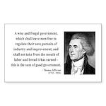Thomas Jefferson 23 Rectangle Sticker