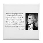 Thomas Jefferson 23 Tile Coaster