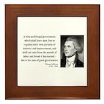 Thomas Jefferson 23 Framed Tile