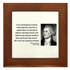 Thomas Jefferson 23 Framed Tile