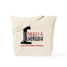 I Need a Cure Diabetes Tote Bag