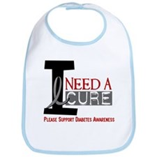 I Need a Cure Diabetes Bib